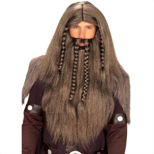 Tribal King Wig, Beard, and Moustache Set