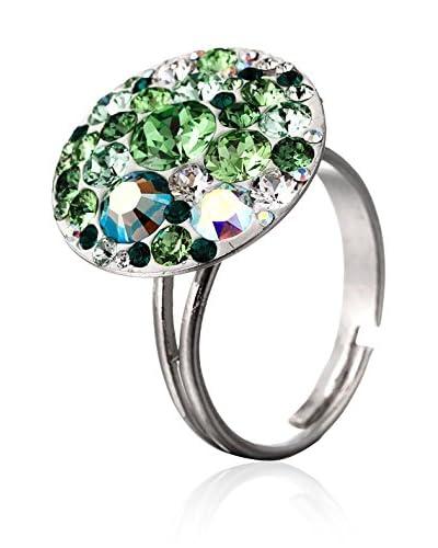SWAROVSKI ELEMENTS Anello Small Crystals Verde