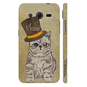 Enthopia Designer Hardshell Case Cat out of the hat Back Cover for Samsung Galaxy Core 2