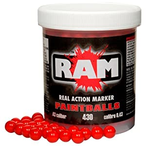 RAM .43 Caliber Paintballs, 430 rds, red and orange