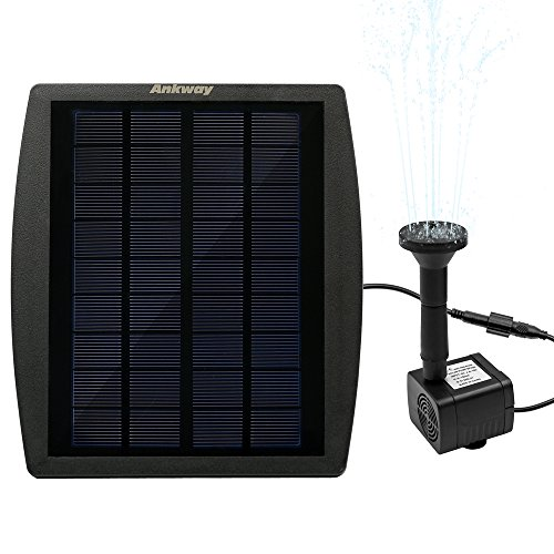 Ankway 2.5W Solar Birdbath Fountain for Garden & Outdoor , Easy to Use (Solar Panel Pond Heater compare prices)