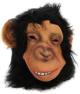 Smiffys Chimp Mask Full Overhead