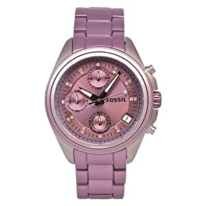 Fossil Women's ES2916 Stainless Steel Analog Purple Dial Watch