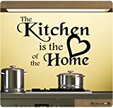 The Kitchen is the Heart of the Home Wall Decal Sticker Art Mural Home Décor Quote
