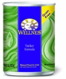 Wellness Canned Cat Food, Turkey Recipe, 12-Pack of 12-1/2-Ounce Cans