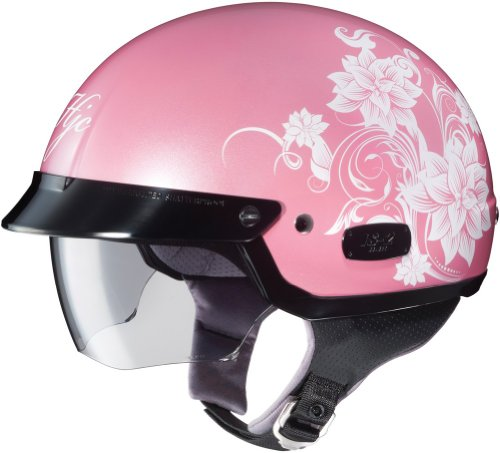 HJC IS2 Blossom - Ladies' Half Shell Open Face Helmet - Pink - SM (Open Face Helmet Pink compare prices)
