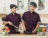 Veste durable veste lavable cuisinier uniforme de travail cuisine veste d'été restautant manche courte professionnel livraison vite