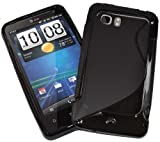 HTC Vivid Case for Holiday HTC Raider Velocity soft Black gel cover X710 Flexible AT&T Verizon