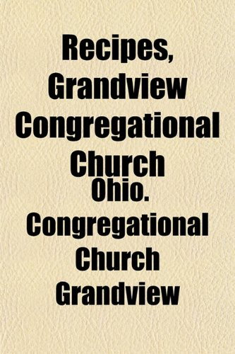 Recipes, Grandview Congregational Church