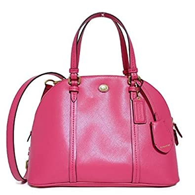 Coach 25671 Peyton Pomegranate Saffiano Leather Cora Domed Satchel