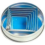 Fox Run 6-Piece Square Cookie Cutter Set