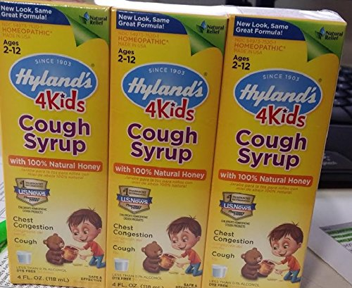 Hyland S 4 Kids Cough Syrup With Natural Honey 4 Fl Oz