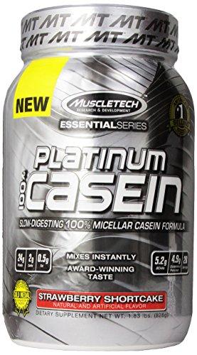 Muscletech Platinum Pure 100% Casein Supplement, Strawberry Shortcake, 1.83 Pound
