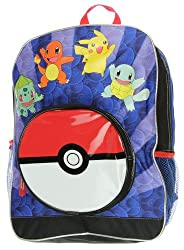 Pokemon Bust Out 16 Inch Backpack with Lunch Bag Set