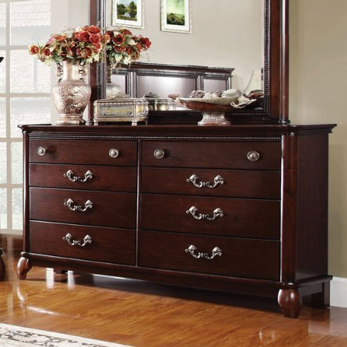 Claymont Solid Wood Cherry Finish Bedroom Dresser front-1069098