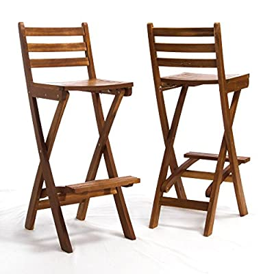 Tundra Single Foldable Outdoor Wood Barstool