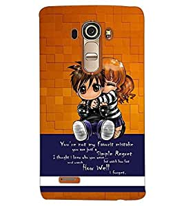 PRINTSWAG KIDS WITH QUOTE Designer Back Cover Case for LG G4