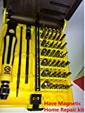 Professional 45 in 1 Magnetic Precision Tool Screwdriver Set w/ 42 Driver Head Bits Phillips Slotted Torx Hex Handle Tweezers Case for Hardware Electrician PC Mobile