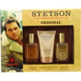 Stetson By Coty For Men Cologne Spray 1.5 Oz & Aftershave Balm 4 Oz & Aftershave 1.5 Oz
