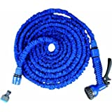 50 Feet Expandable Garden Hose & Spray Nozzle Combo- Best Water Hose - Collapsible, Lightweight, Rubber, Coiled...