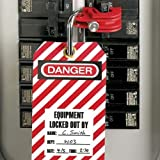 Panduit PSL-CBNT Lockout with Universal Circuit Breaker Compatibility, Red