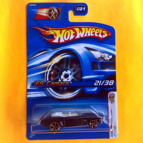 Hot Wheels 2006 First Editions 21 of 38 Black '69 Camaro 021 - 1