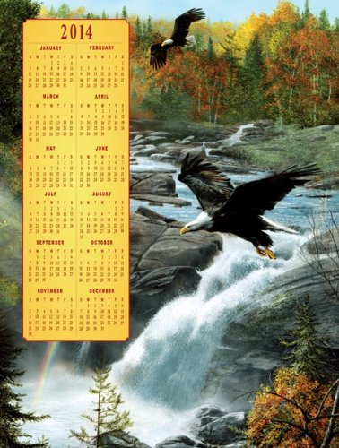Time's Pieces Waterfall Flight 2014 Calendar 500pc - 1