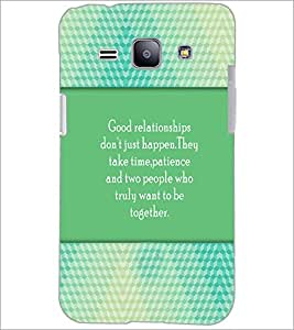 PrintDhaba Quote D-4208 Back Case Cover for SAMSUNG GALAXY J1 (Multi-Coloured)