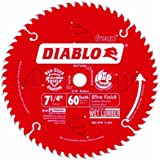 """Freud D0760A Diablo 7-1/4"""" x 60-Tooth Ultra Fine Finishing Circular Saw Blade with 5/8"""" Arbor and Diamond Knockout Single Blade"""