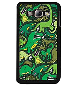 Printvisa Assorted Dinosaur Pattern Back Case Cover for Samsung Galaxy A8::Samsung Galaxy A8 A800F