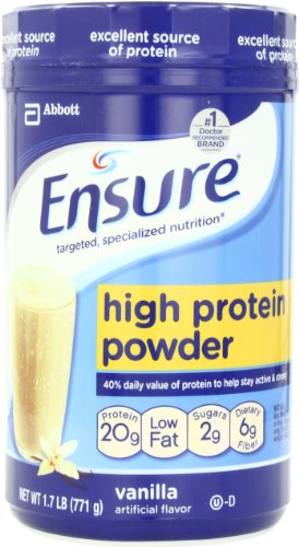 Ensure High Protein Powder, Homemade Vanilla, 1.7-Pound, 19 Servings
