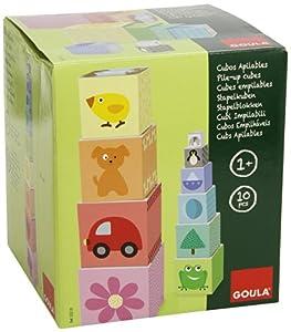 Goula - Cubos apilables 1-10, juego de habilidad (Diset 55218) marca Diset