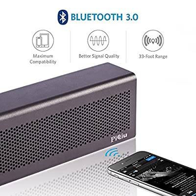 [2016 new version]Bluetooth Speaker, Piqiu Premium Aluminum portable Wireless Stereo Speaker,Dual Passive Radiators / Subwoofers for Bass---fit for iPhone, iPad, Samsung and More, Built-in Microphone