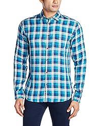 Park Avenue Men's Casual Shirt (8907117082498_PCSY00776-B5_40_Medium Blue)
