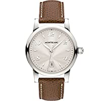 Montblanc Star Date 108762 39mm Stainless Steel Case Brown Calfskin Anti-Reflective Sapphire Women's Watch from Montblanc