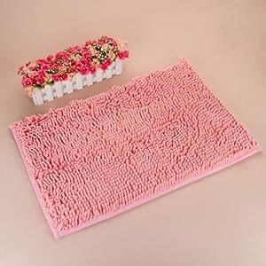 """KLOUD City ® Pink anti-slip microfiber carpet doormat bedroom kitchen area rug carpet (31"""" x 20"""")"""