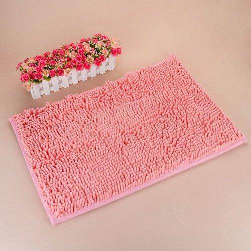 KLOUD ® Pink anti-slip microfiber carpet / doormat / floor mat / bedroom / kitchen area rug carpet (31″ x 20″) plus KLOUD cleaning cloth