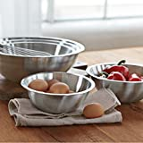 Heavy Duty Stainless Steel Mixing Bowls - Set of 6 Different Sizes - by Product Stop