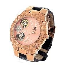 buy Aqua Master 45 Mm Round 20 Diamonds Automatic Rose Gold Watch