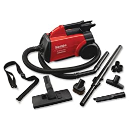 Wholesale CASE of 2 - Electrolux Sanitaire Commercial Canister Vacuum-Sanitaire Commercial Vacuum, 7\' Hose, 20\' Cord, 8 lb., Red