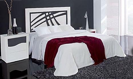 FACTORY MUEBLES -Mesita de noche de tres cajones, Modelo Japon. Madera de gran calidad. Color blanco - antracita.