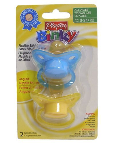 Playtex Binky Latex Angles Pacifier - 2 pack