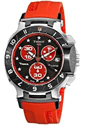 Tissot Men's T0484172705102 Nicky Hayden Limited Edition Black and Red Dial Watch