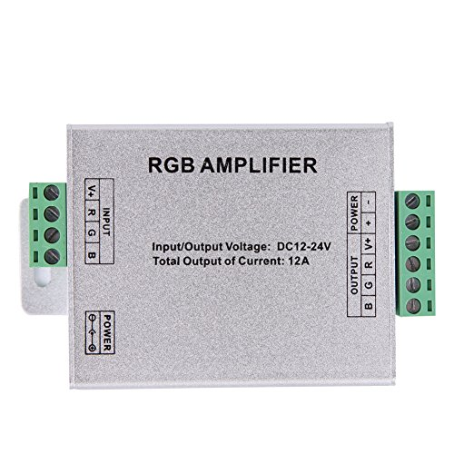 Data Repeater Rgb Signal Amplifier For Rgb Smd 5050 Led Strip Light Dc 12V 12A