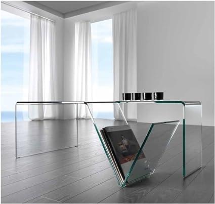 Mesa centro revistero cristal mirius