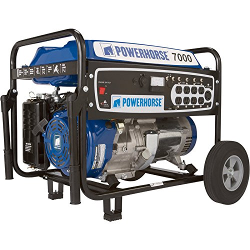 Powerhorse Portable Generator – 7000 Surge Watts, 5500 Rated Watts