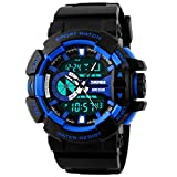 Picture Of Panegy Outdoor Waterproof Boys Girls Cool Sport Digital Alarm Stopwatch Chronograph Wrist Watch Gift Display – Blue