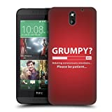 Head Case Designs Grumpy Progress Bar Protective Snap-on Hard Back Case Cover for HTC Desire 610