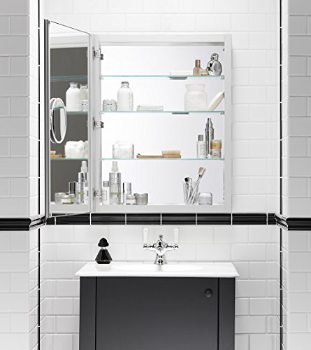 medicine cabinet with magnifying mirror home garden bathroom