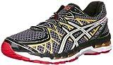 ASICS Mens Gel Kayano 20 Running Shoe,Black/White/Gold,11 2E US